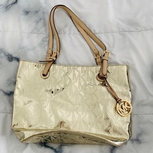 Michael Kors Gold Metallic Tote